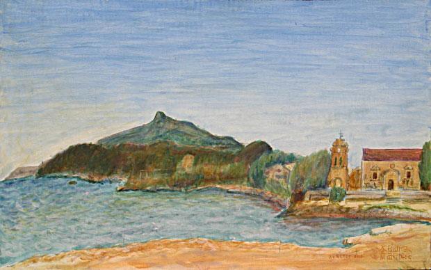 Η εκκλησία και το ποτάμι του Αγίου Χαραλάμπους