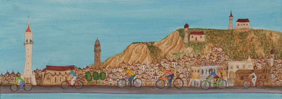 Bike ride in Strada Marina.