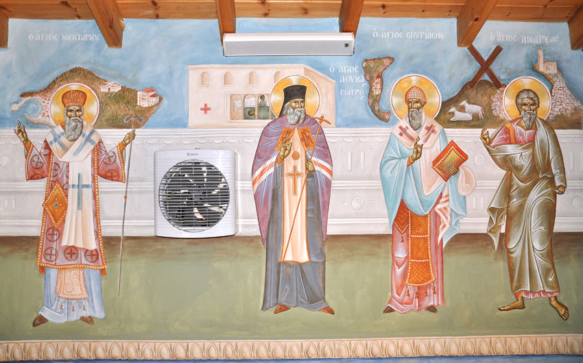 The Saints Nektarios, Luke, Spyridon and Andreas