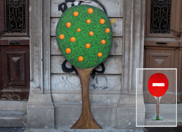 Orange tree and STOP