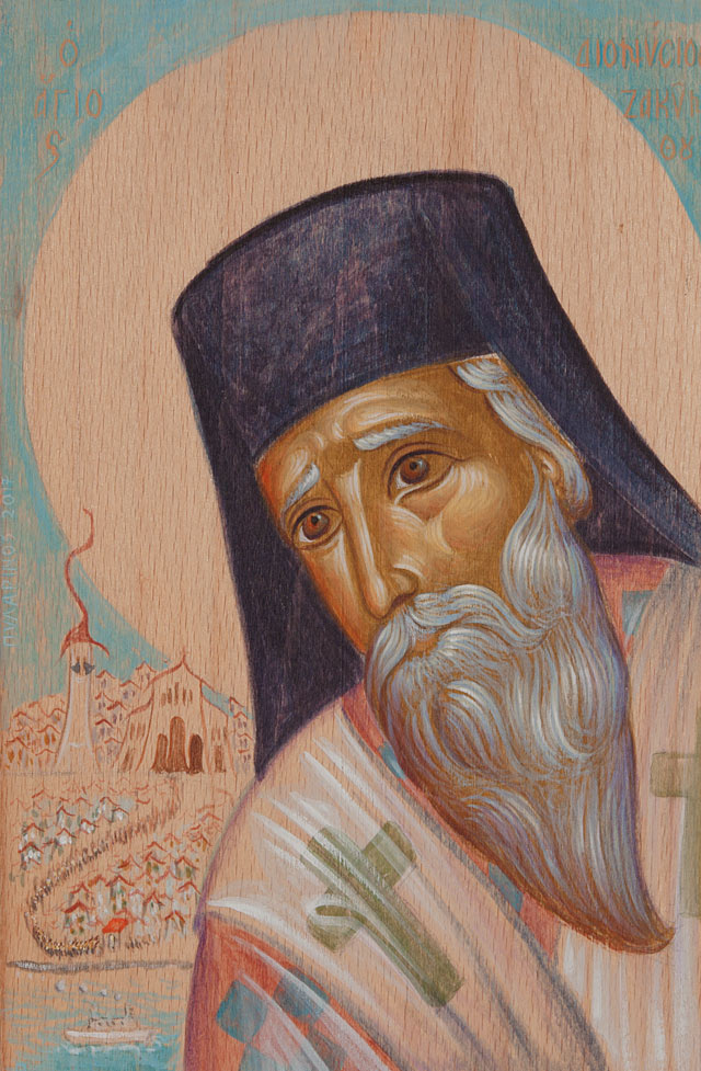 Saint Dionysios from Zakynthos and the litany of his body