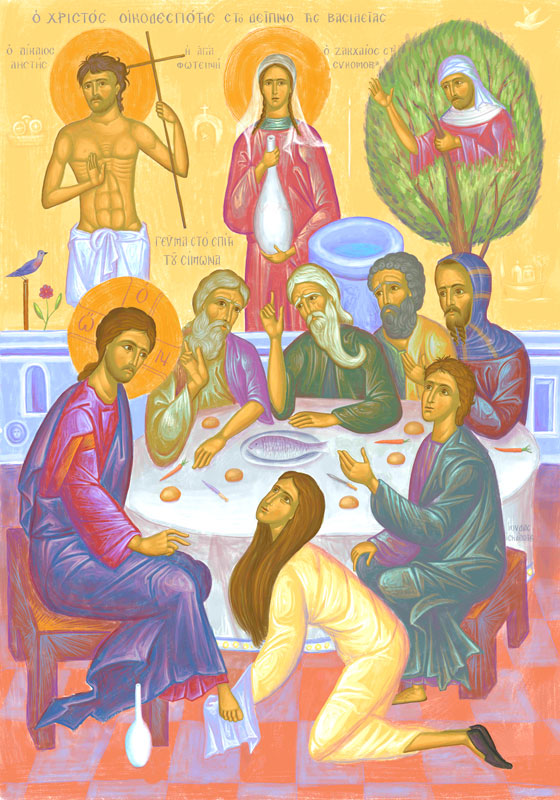 Christ as a host at the Kingdom dinner.